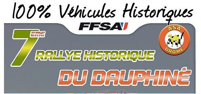 7th Rallye Historique the Dauphiné