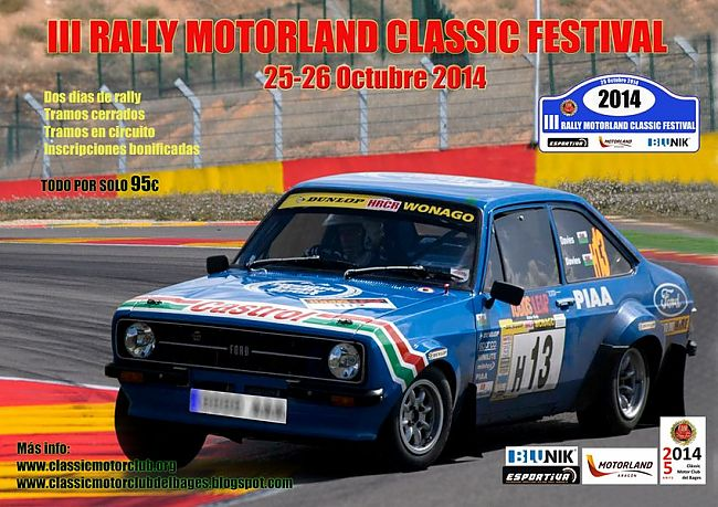 III Rally  Motorland Classic Festival classificaccions