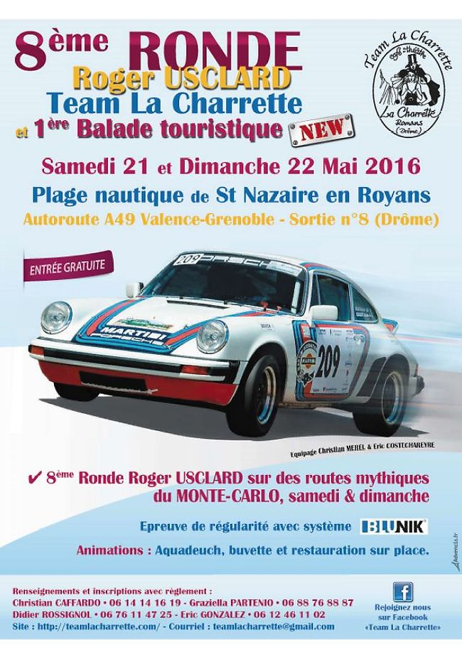 VIII Ronde Roger USCLARD, regularity rally, mai, france Blunik Chrono precision Rhone-Alpes