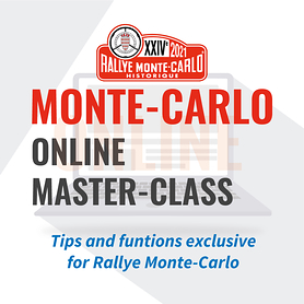 Master-Class online. Specific for the Monte Carlo Historique Rally